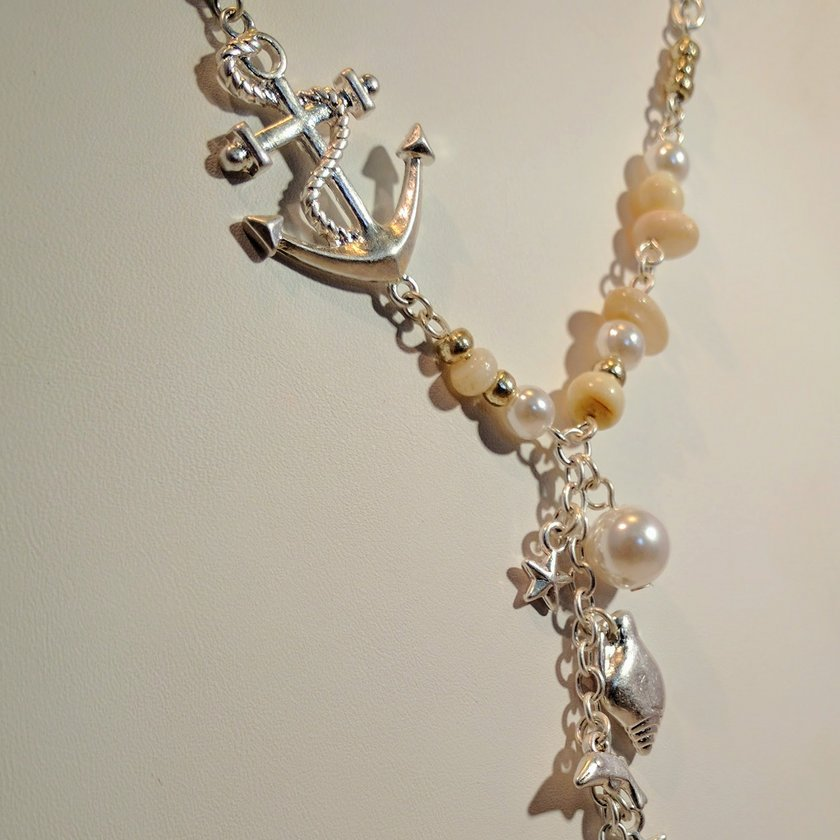 Shells, Anchor, Starfish, Pearls and Dolphin