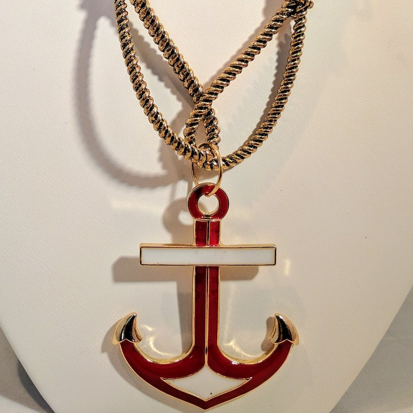 Red Anchor with White Accents