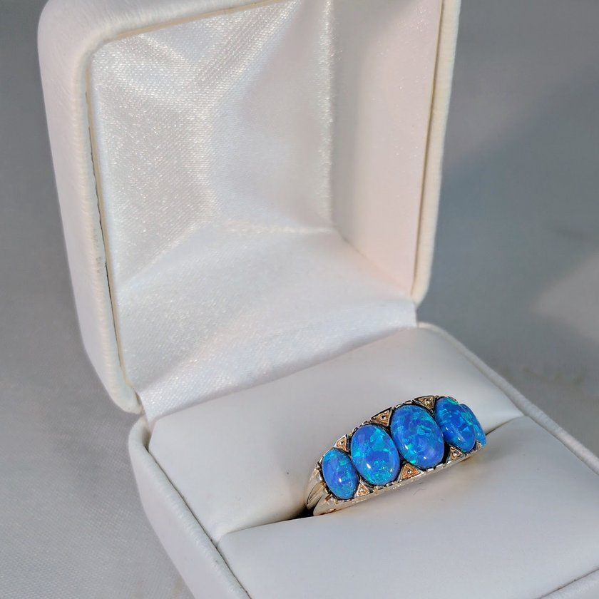 Five Stone Opal Ring