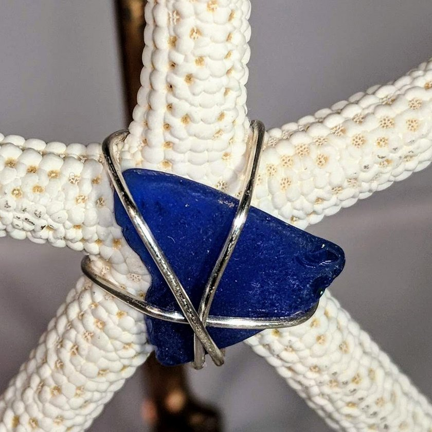 Starfish with Blue Seaglass