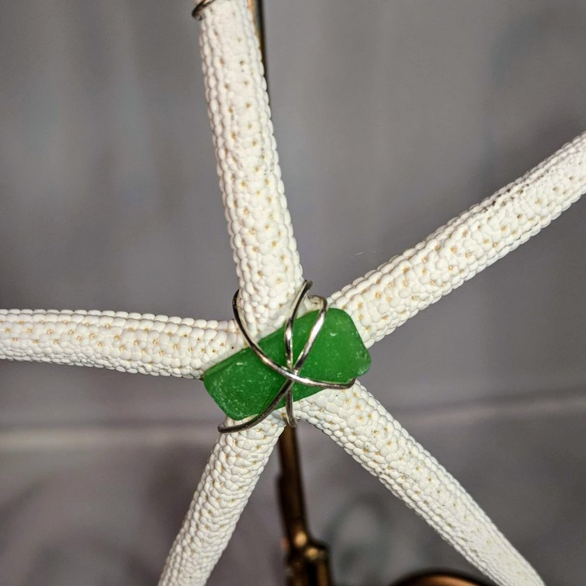 Starfish with Green Seaglass