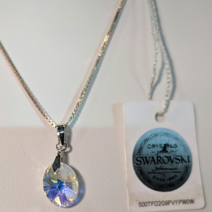 Clear Crystal Swarovski Necklace